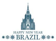 Feliz Año Nuevo el Brasil libre illustration