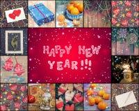 ¡Feliz Año Nuevo! El fondo rosado del Año Nuevo Foto de archivo libre de regalías