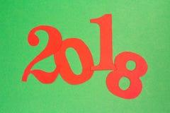 Feliz Año Nuevo 2018 en el estilo de papel Fotografía de archivo libre de regalías
