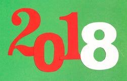Feliz Año Nuevo 2018 en el estilo de papel Fotos de archivo