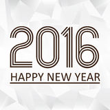 Feliz Año Nuevo 2016 en el modelo eps10 del papaper del triiangle Fotografía de archivo libre de regalías