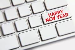 Feliz Año Nuevo en el teclado Fotografía de archivo libre de regalías