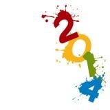 Feliz Año Nuevo en estilo del grunge ilustración del vector