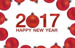 Feliz Año Nuevo 2017 en fondo abstracto Fotografía de archivo