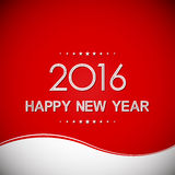 Feliz Año Nuevo 2016 en fondo del modelo de onda Imágenes de archivo libres de regalías