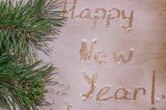 Feliz Año Nuevo en la nieve imagen de archivo
