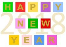 Feliz Año Nuevo 2018 en las tejas Imagen de archivo