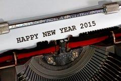 Feliz Año Nuevo 2015 escrita con tinta negra Foto de archivo libre de regalías