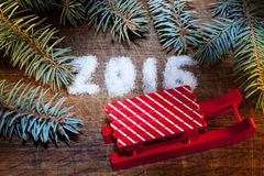 Feliz Año Nuevo 2016 escrita el azúcar Foto de archivo libre de regalías