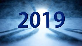 Feliz Año Nuevo fondo de 2018 días de fiesta 2018 Felices Año Nuevo saludan Imágenes de archivo libres de regalías