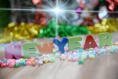 Feliz Año Nuevo, fondo de la pendiente Imagenes de archivo