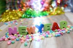 Feliz Año Nuevo, fondo de la pendiente Foto de archivo libre de regalías