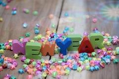 Feliz Año Nuevo, fondo de la pendiente Fotos de archivo