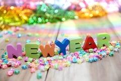 Feliz Año Nuevo, fondo de la pendiente Imagen de archivo libre de regalías