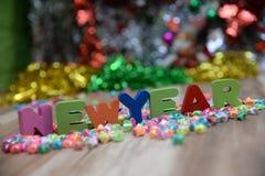 Feliz Año Nuevo, fondo de la pendiente Imágenes de archivo libres de regalías