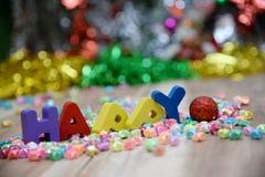 Feliz Año Nuevo, fondo de la pendiente Fotografía de archivo libre de regalías