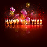 Feliz Año Nuevo. fondo del día de fiesta con los globos imágenes de archivo libres de regalías