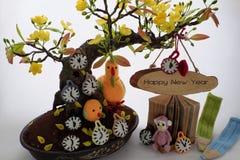 Feliz Año Nuevo, fondo del tet de Vietnam Imagen de archivo libre de regalías