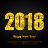 Feliz Año Nuevo 2018 Fondo del vector Imágenes de archivo libres de regalías