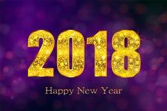 Feliz Año Nuevo 2018 Fondo del vector Fotografía de archivo