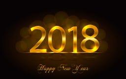 Feliz Año Nuevo 2018 Fondo del vector Imagenes de archivo