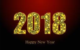 Feliz Año Nuevo 2018 Fondo del vector Foto de archivo