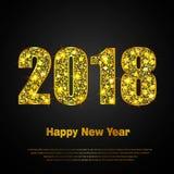 Feliz Año Nuevo 2018 Fondo del vector Imagen de archivo