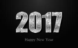 Feliz Año Nuevo 2017 Fondo del vector Foto de archivo