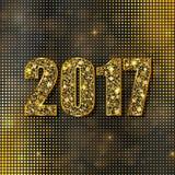 Feliz Año Nuevo 2017 Fondo del vector Fotografía de archivo libre de regalías