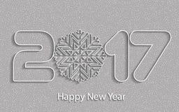 Feliz Año Nuevo 2017 Fondo del vector Fotos de archivo