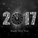 Feliz Año Nuevo 2017 Fondo del vector Imágenes de archivo libres de regalías