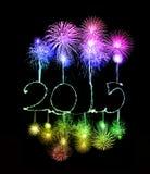 Feliz Año Nuevo - 2015 hicieron una bengala Imagen de archivo libre de regalías