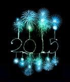 Feliz Año Nuevo - 2015 hicieron una bengala Fotos de archivo