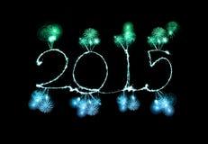 Feliz Año Nuevo - 2015 hicieron una bengala Imagenes de archivo