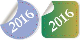 Feliz Año Nuevo 2016 - icono con la sombra Imágenes de archivo libres de regalías