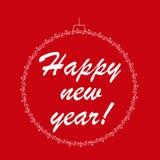 Feliz Año Nuevo Ilustración del vector Fotos de archivo libres de regalías
