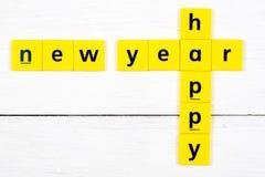 Feliz Año Nuevo, inscripción imagen de archivo libre de regalías