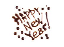 Feliz Año Nuevo, inscripción del moderno-estilo Fotografía de archivo