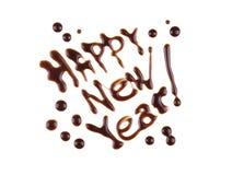 Feliz Año Nuevo, inscripción del moderno-estilo Imagenes de archivo