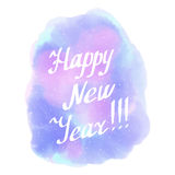 Feliz Año Nuevo Invierno Estilo abstracto de la acuarela del fondo Foto de archivo libre de regalías