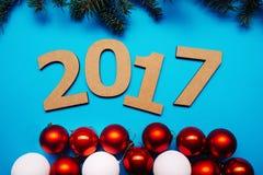 Feliz Año Nuevo, juguetes de la Navidad Fotos de archivo