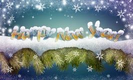 Feliz Año Nuevo La Navidad Imágenes de archivo libres de regalías