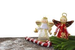 Feliz Año Nuevo, la Navidad, aislante de la Feliz Navidad en el fondo blanco Imagen de archivo libre de regalías