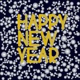 Feliz Año Nuevo, poniendo letras ilustración del vector