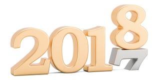 Feliz Año Nuevo 2018 que viene pronto concepto, representación 3D Fotografía de archivo