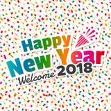 Feliz Año Nuevo - recepción 2018 ilustración del vector