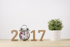 Feliz Año Nuevo Símbolo del suspiro del número 2017 Imagen de archivo