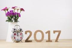 Feliz Año Nuevo Símbolo del suspiro del número 2017 Fotos de archivo
