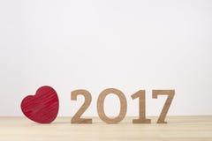 Feliz Año Nuevo Símbolo del suspiro del número 2017 Foto de archivo
