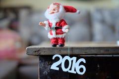 Feliz Año Nuevo 2016, Santa Claus Imagenes de archivo